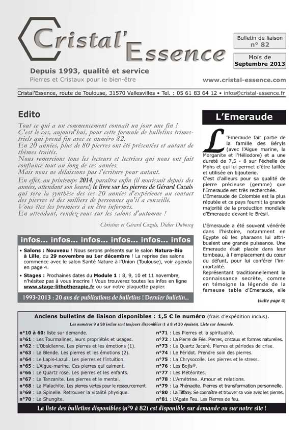 Bulletin N° 82