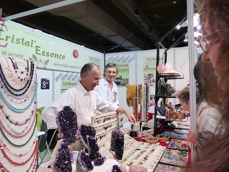 Gérard Cazals et Didier Duboscq sur le stand – à Porte De Champeret.