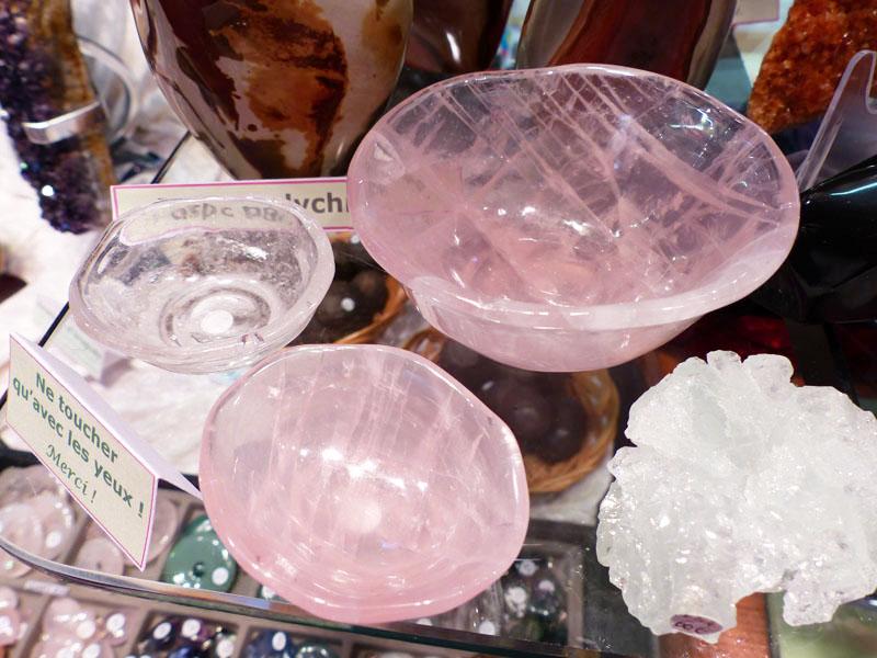 Bol en Quartz Rose et Cristal de Roche