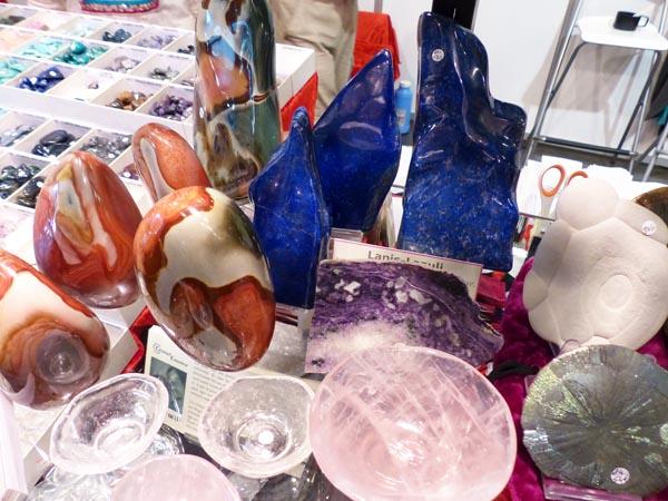 Jaspe impérial, Lapis, cristal de roche et quartz rose
