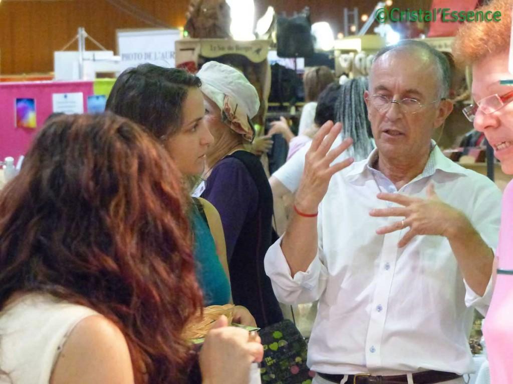 Gérard Cazals avec les clients