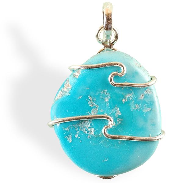 Turquoise naturelle pendentif