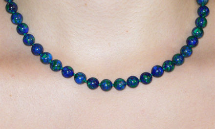 Collier en Azurite Malachite