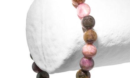 La Tourmaline verte et rose en bracelet